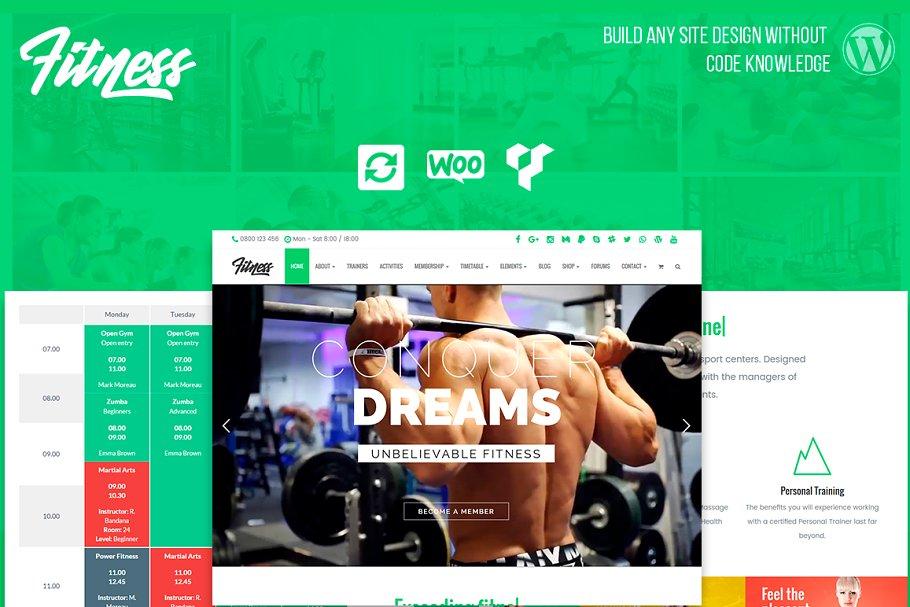 Download Fitness WordPress Theme