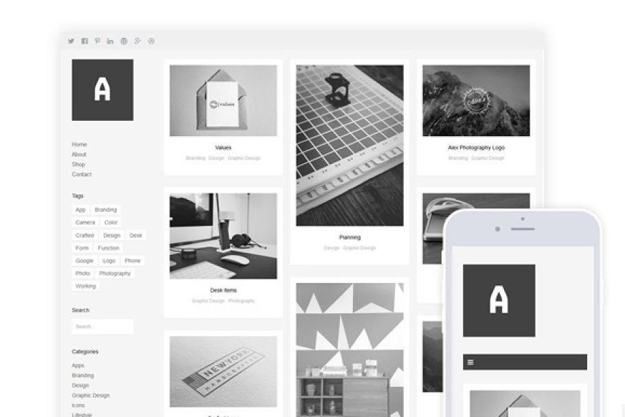 Download Althea / Grid Portfolio & Shop Theme