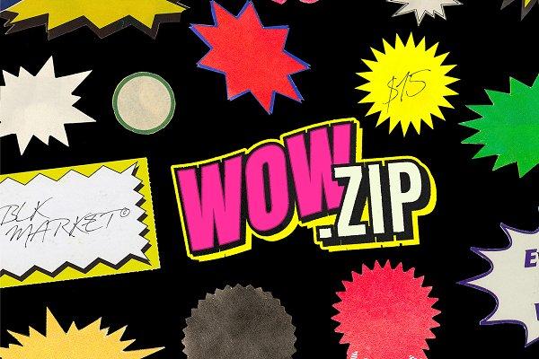 Download WOW.zip - 250+ Vintage Sticker PNGS