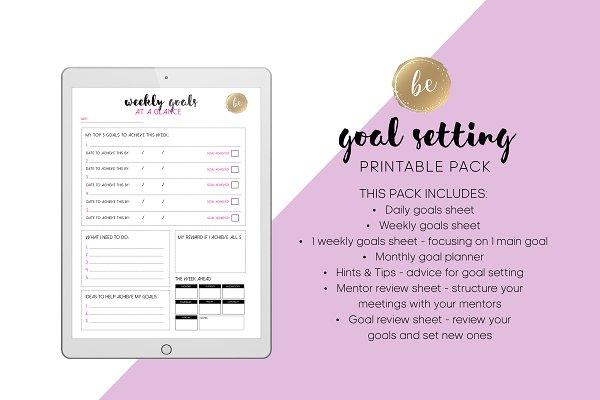 Download Goal Setting - Printable Planner