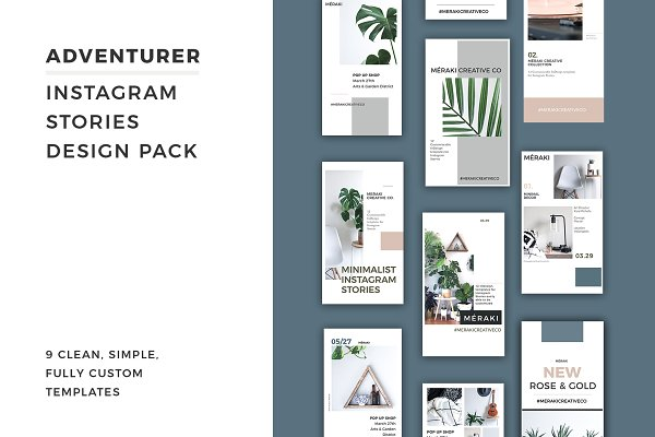 Download Adventurer Instagram Stories Pack