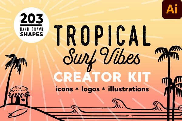 Download TROPICAL SURF VIBES - Creator Kit