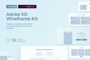 Download Collector Wireframe Web Kit