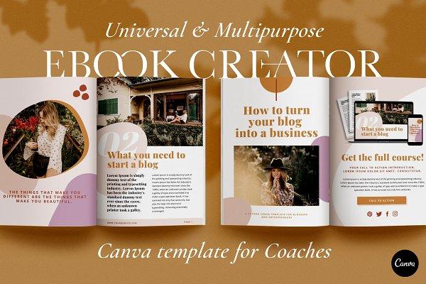 Download eBook Creator template   CANVA