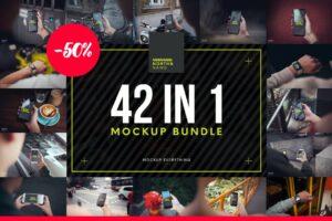 Download 42 in 1 Mockup PSD Bundle!