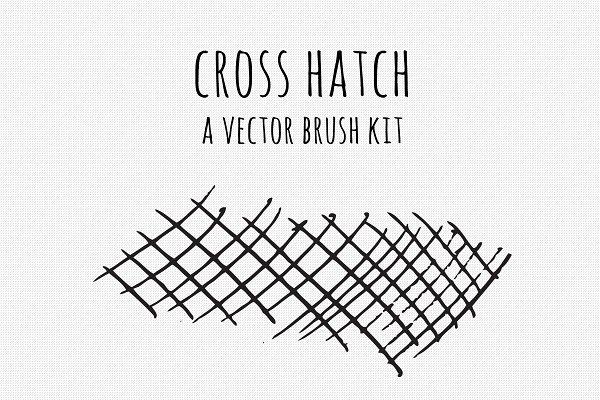 Download Vector Cross Hatch Brush Kit