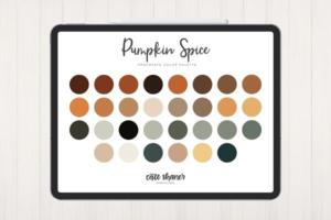 Download Pumpkin Spice Procreate Palette
