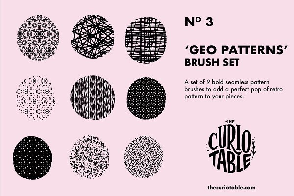 Download Procreate Brushes - Geo Patterns