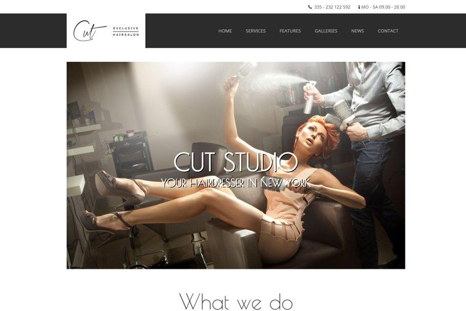 Download Cut - Hair Salon WordPress Theme