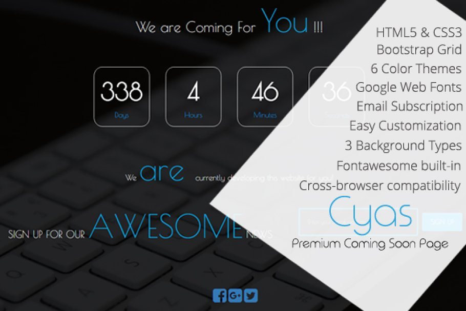 Download CYAS- Responsive Coming Soon Page