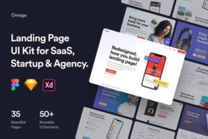Download Omega - Landing Page UI Kit