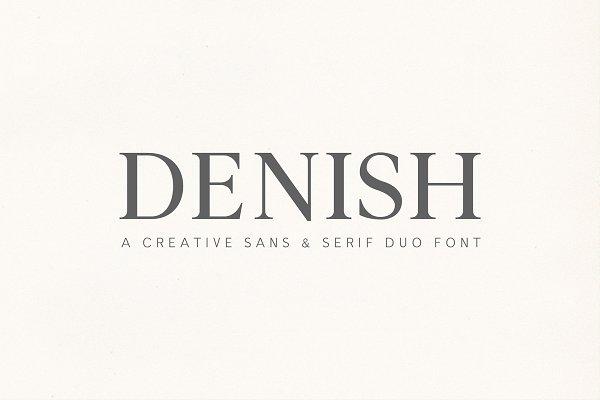 Download Denish Sans & Serif Duo Font Family