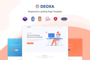 Download Deoxa - Angular 10 Landing Page Temp