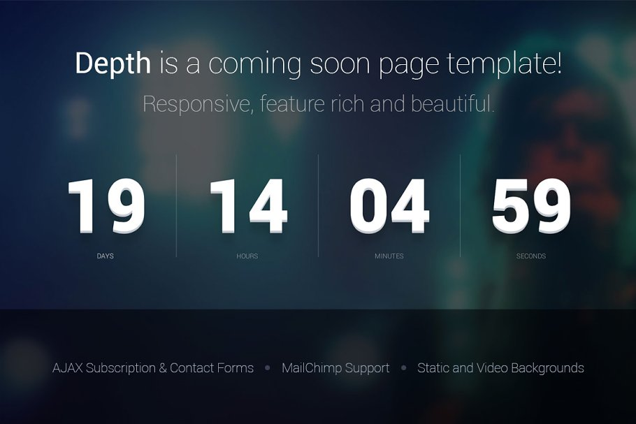 Download Depth — Coming Soon Page Template