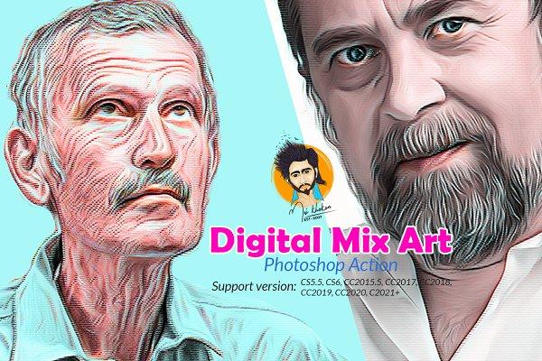 Download Digital Mix Art Photoshop Action