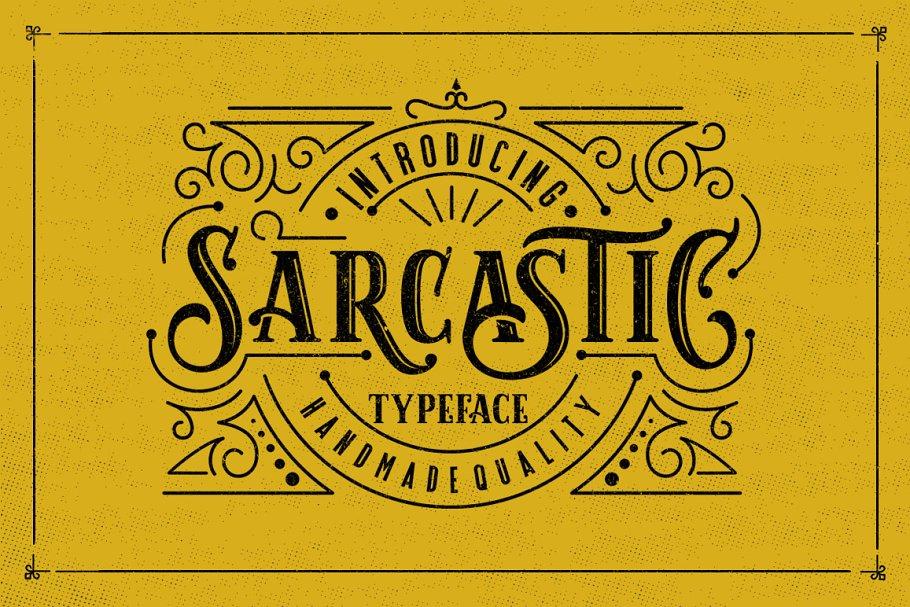 Download Sarcastic Typeface + Extras