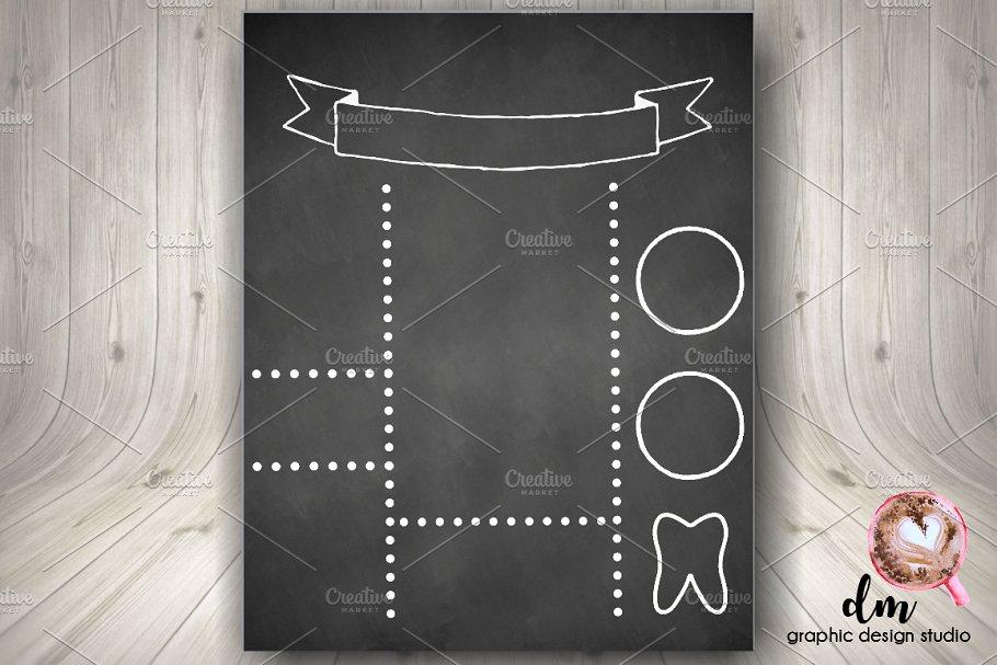 Download Printable Blank Chalkboard Template