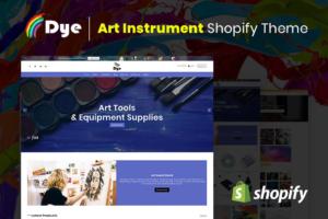 Download Dye Art Instrument Shopify Theme