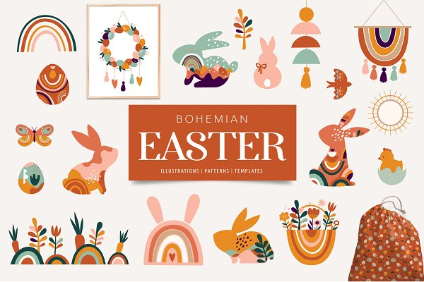 Download Bohemian Easter collection