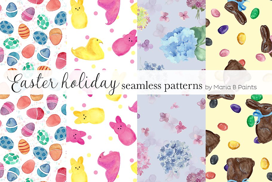 Download Watercolor Seamless Pattern - Easter