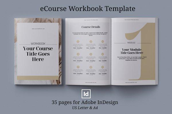 Download eCourse Workbook InDesign template