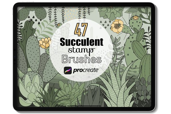 Download Procreate brush - Succulent stamps