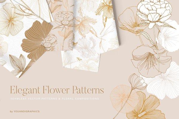 Download Elegant Flower Patterns