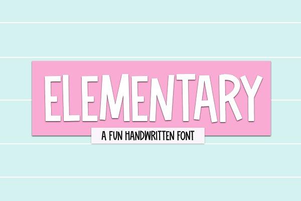 Download Elementary   Fun Handwritten Font
