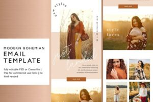 Download Modern Boho Email Marketing Template