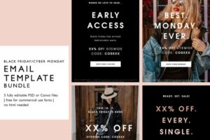 Download Black Friday Sale Email Templates