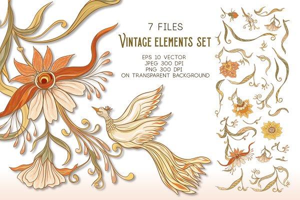 Download Art Nouveau Elements Set