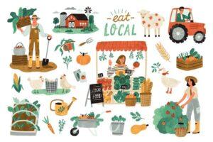 Download Farm organic production set