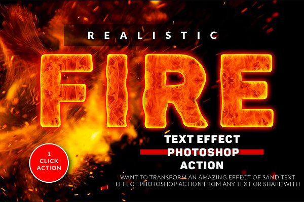 Download Fire Text Effect Photoshop Action