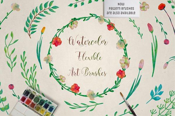 Download Watercolor Art & Pattern Brushes