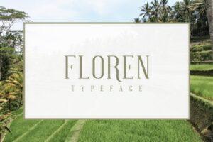 Download FLOREN TYPEFACE