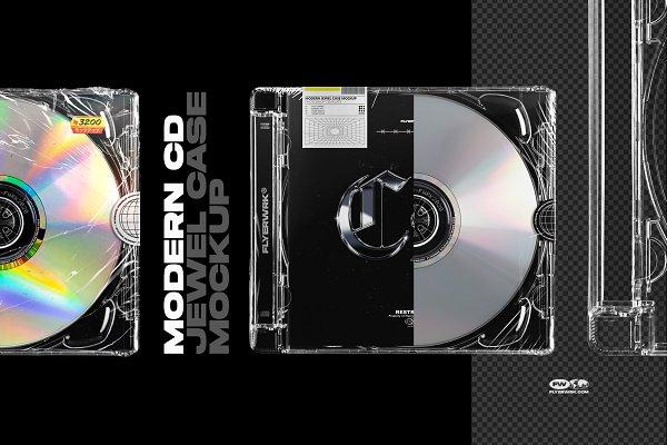 Download Modern CD Jewel Case Mockup