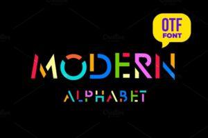 Download Modern stylized font.