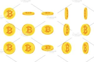 Download Sprite sheet of gold bitcoin