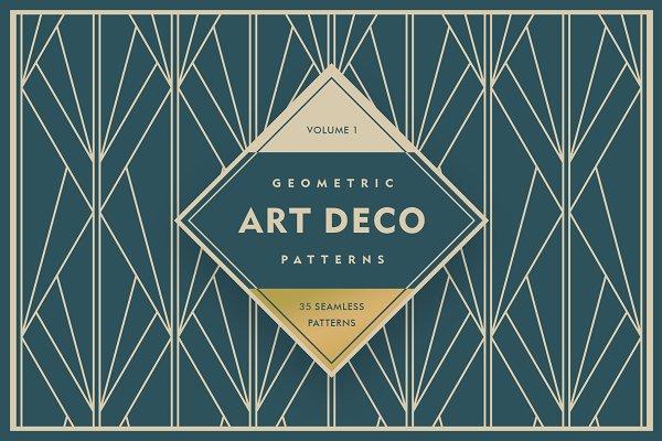 Download Geometric Art Deco Patterns