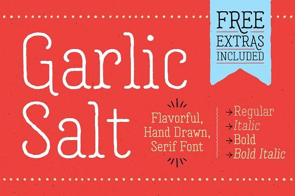 Download Garlic Salt Font Family