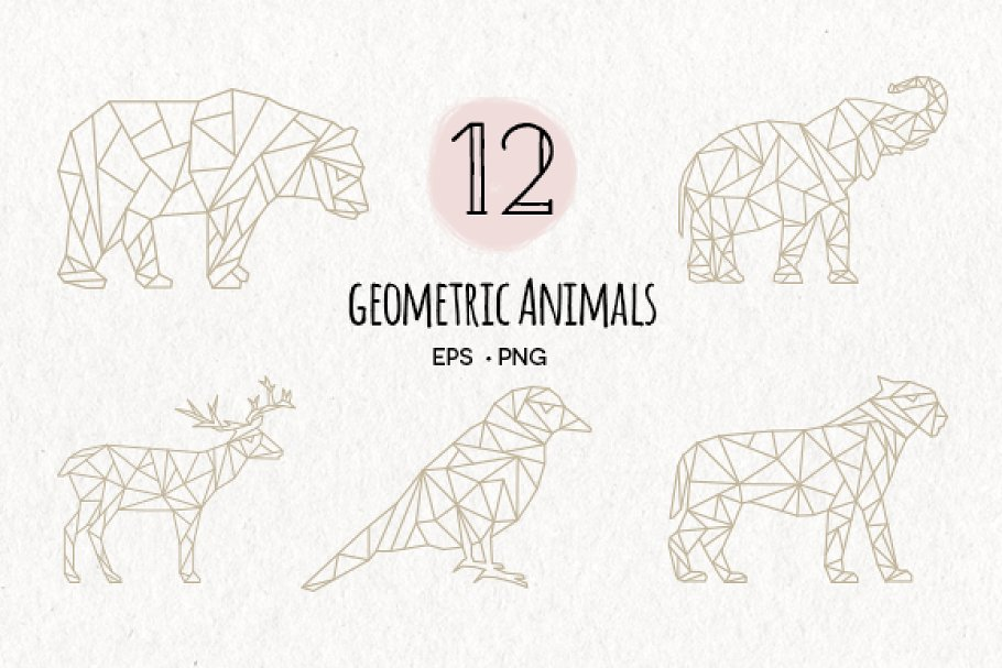 Download Geometric Animals EPS & PNG