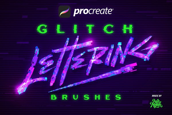 Download Procreate Glitch Lettering Brushes