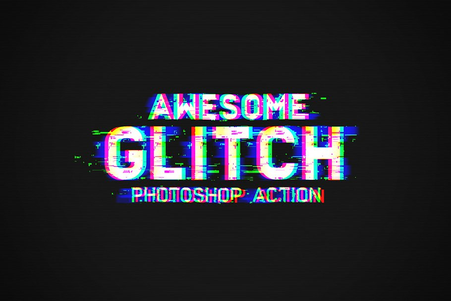 Download Glitch Photoshop Action