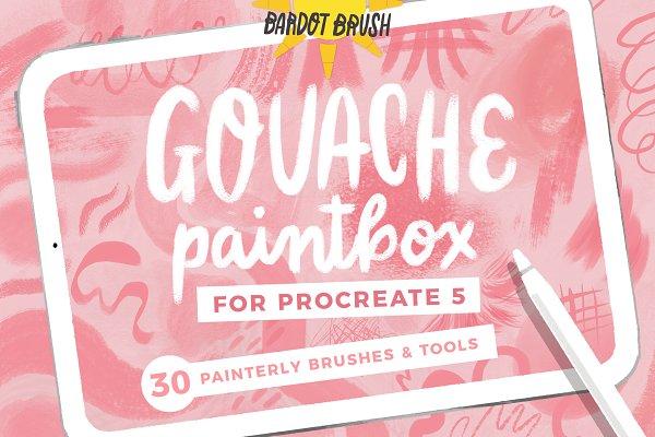 Download Gouache Paintbox for Procreate 5