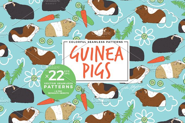 Download Pattern with guinea pigs or cavies