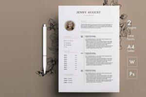 Download Resume Template / CV & Cover Letter