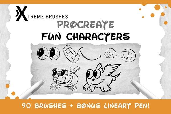 Download Procreate Fun Characters Kit!!!