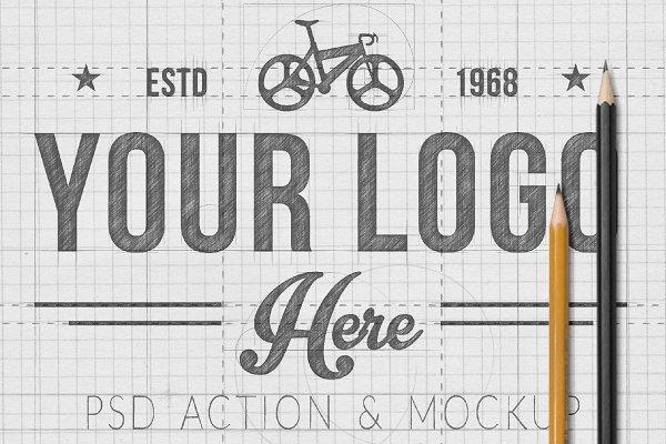 Download HAND SKETCHED LOGO ACTION & MOCKUP
