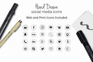 Download Hand Drawn Social Media Icons