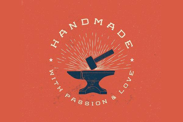 Download Vintage Handmade Label